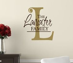 Large Letter Wall Decor Decal Personalized by HouseHoldWords, $29.00