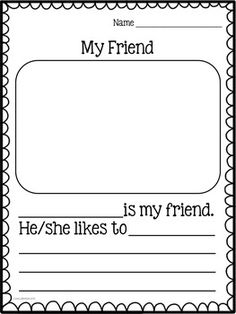Informative Writing - Students will love writing to tell about a friend in their class. Vocabulary cards and a fun brainstorming activity are included. Kindergarten and graders will benefit from the differentiated publishing pages. Kindergarten Writing Activities, Friend Activities, Kindergarten Language Arts, Teaching Writing, Kindergarten Teachers, Informative Writing Kindergarten, Kindergarten Journals, Kindergarten Handwriting, Teaching Ideas
