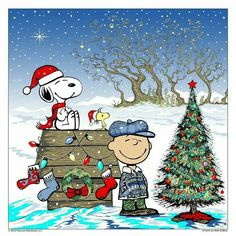 Christmas - Charlie Brown - Snoopy & Woodstock
