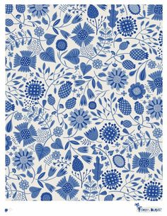 Loving this lovely blue and white pattern from Lilla Rogers. http://lillarogers.com/helens-latest-patterns-4/