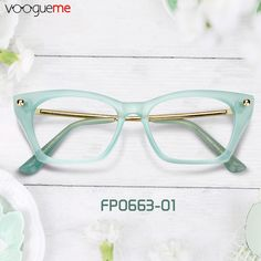 a85c8a627f8a Tracy Cat Eye Green Eyeglasses These cat eye glasses make your complexion  brighter. The translucent