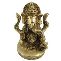 Amazon.com: Religious Statue Brass Collectible Figurines God Ganesha 2 x 2 x 3 Inches: Furniture & Decor