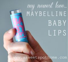 Beauty Products I LOVE: Maybelline Baby Lips...and it costs less than $3.00! #beauty #makeup #lipbalm #babylips #maybelline