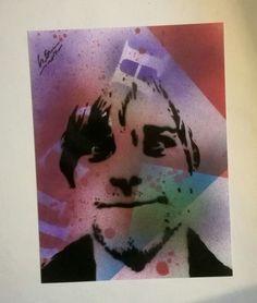 signed Original Nirvana Kurt Cobain portrait street graffiti grunge pop art  in Art, Contemporary Paintings, Other Contemporary Paintings | eBay!