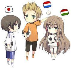 Hetalia - Japan, Netherlands and Hungary
