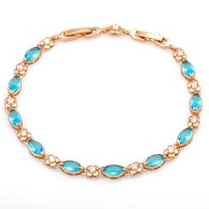 Find More Charm Bracelets Information about Sapphire jewelry Gold plated Bracelets & bangles skyblue Cubic Zirconia stone fashion jewelry B058,High Quality jewelry donuts,China jewelry value Suppliers, Cheap jewelry making jump rings from Dana Jewelry Co., Ltd. on Aliexpress.com