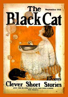 Vintage Magazine -The Black Cat-September 1918