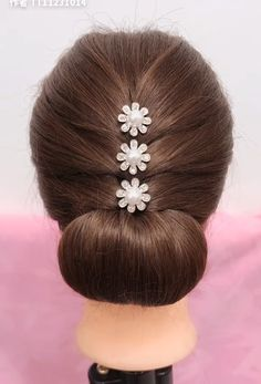 Beautiful enchanting buns hairstyles Beautiful enchanting buns h… - All For Hairstyles DIY Easy Hairstyles For Long Hair, Braided Hairstyles, Wedding Hairstyles, Beautiful Hairstyles, Office Hairstyles, Stylish Hairstyles, Hairstyle Short, School Hairstyles, Hair Updo