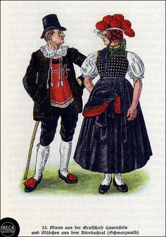 Mann aus der Grafschaft Hauenstein und Mädchen aus dem Kirnbachtal, Schwarzwald | Flickr - Photo Sharing!
