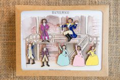 Get the full Hamilton pin set of hand-drawn characters inspired by the Broadway musical: Hamilton, Burr, Lafayette, Jefferson, Angelica, Eliza, and Peggy!