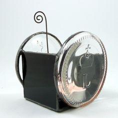 PREZENT. Eko-świecznik z denek od butelek w Galeria Limart Lidia Becela na DaWanda.com