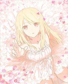 Anime girl in white dress, with heart-shaped flower petals. reminds me of mashiro from さくら荘のペットな彼女, Sakura-sō no Petto na Kanojo, lit. The Pet Girl of Sakura Dormitory Kawaii Anime Girl, Anime Girls, Pretty Anime Girl, Beautiful Anime Girl, I Love Anime, Awesome Anime, Manga Girl, Mashiro Shiina, Manga Anime