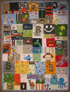 Handmade Custom ToddlerSize Onesie Quilt    Free by thedizzybobbin, $300.00