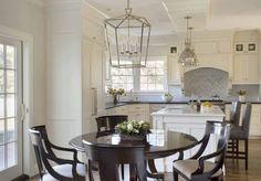 Liz Caan Interiors - kitchens - Darlana Medium Lantern, eat in kitchen, polished nickel lantern, dining room lanterns, nickel lantern, round...