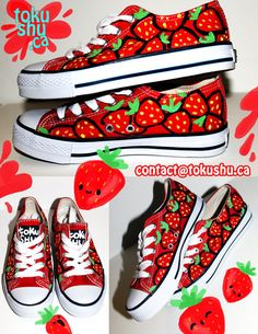 Strawberry Shoes by ~artsyfartsyness on deviantART