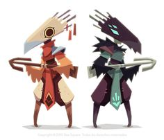 Character designs for Bee Square video games