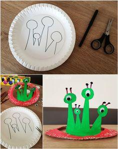 Anleitung: Pappteller Krone und Hüte basteln - Paper Plate Party Crown DIY -