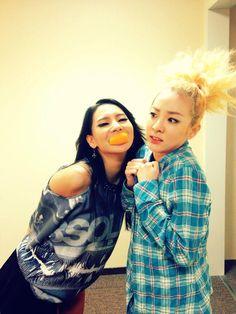 2NE1 CL x Dara :D