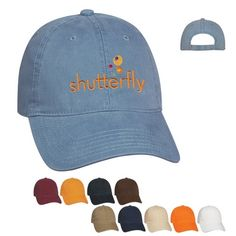 Promotional Washed Cotton Cap Item (Min Order: Customize your Caps with your logo for advertising your business. The Promotional Washed Cotton Cap is decorated. Promotional Caps are customized with your company logo for your marketing needs. Best Way To Advertise, Branded Caps, Free Artwork, Make Your Logo, Monkey Business, Custom Hats, Business Logo, Caps Hats, Screen Printing