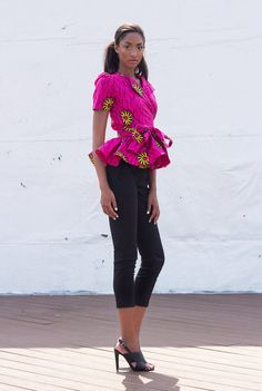 NEW The Diane Wrap Top by DemestiksNewYork on Etsy ~African fashion, Ankara, kitenge, African women dresses, African prints, African men's fashion, Nigerian style, Ghanaian fashion ~DKK