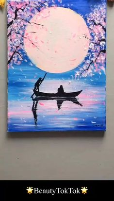 Easy Canvas Art, Simple Canvas Paintings, Small Canvas Art, Diy Canvas, Beautiful Paintings, Multi Canvas Art, Decorative Paintings, Unique Paintings, Small Paintings