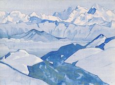 Nicholas Roerich, Everest Range From Himalayan series 1924