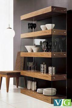 Modern Walnut Bookcase, Furnishing, Art Urbane, Art Urbane