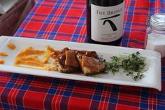 Pork belly paired with The Bridge Chardonnay...