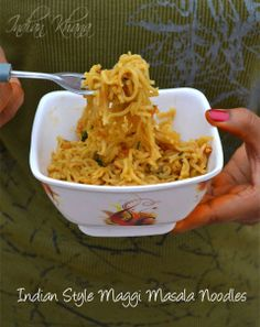 Maggi-Masala-Noodles-Indian-Style (without using the salt-laden-tastemaker packet!)