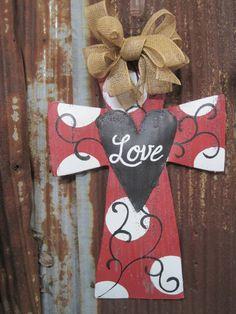 Valentine Cross Door Hanger. $45.00, via Etsy.