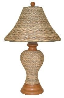 Beach House Seagrass Table Lamp