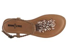 Minnetonka Women's Tasha Sandal Flat Sandals Sandal Shop Women's Shoes - DSW
