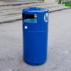 Super Guppy™ litter bin is made from weather resistant Durapol® material, this outdoor litter bin will fit well with any external surroundings due to its choice of colours. #GlasdonUK #ExternalLitter #Bins