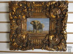 V35713E:  Antique Gold Framed Oil Painting on by StenellaAntiques