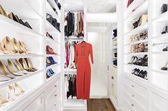 During the renovation of her loft in Manhattan's Soho neighborhood, Bethenny Frankel enlarged the master closet.