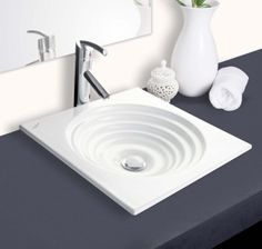 Hindware Italian Collection Ripple Over Counter Basin (Colors available) Bathroom Plumbing, Bathroom Faucets, Pedestal Basin, Low Water Pressure, Basin Design, Countertops, Home Improvement, Sink, Stuff To Buy