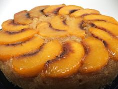 Peach Upside-down Cake   Baking and Cooking Blog - Evil Shenanigans