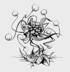 Ploppy Blossom by pnutink man eating plant flower pod tentacles carnivorous monster beast creature animal | Create your own roleplaying game material w/ RPG Bard: www.rpgbard.com | Writing inspiration for Dungeons and Dragons DND D&D Pathfinder PFRPG Warhammer 40k Star Wars Shadowrun Call of Cthulhu Lord of the Rings LoTR + d20 fantasy science fiction scifi horror design | Not Trusty Sword art: click artwork for source