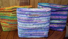 Gift bags that keep on giving, free pattern.