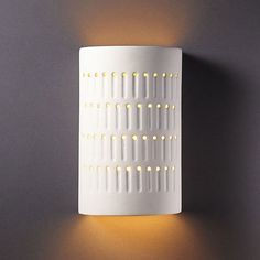 Shop for Justice Design Group One-light Cactus Cylinder Bisque Outdoor Wall Sconce. Get free delivery at Overstock - Your Online Outdoor Lighting Store! Get in rewards with Club O! Outdoor Barn Lighting, Outdoor Wall Lantern, Outdoor Walls, Beach Lighting, Outdoor Flush Mounts, Outdoor Wall Sconce, Wall Sconce Lighting, Hall Lighting, Pipe Lighting