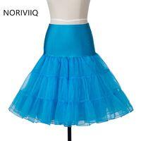 New Retro Short Petticoat Tutu Mini Skirt Slips Tulle Skye Blue Underskirt Crinoline Enaguas Para Vestidos De Novia
