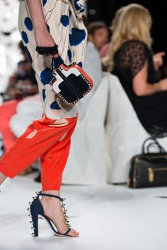 Diane von Furstenberg Spring 2013 goes back to the future - jumpsuit i want  for spring. Toyia Taylor · High End Handbags 5e206bf30fe66