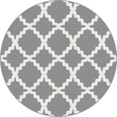 Alise Metropolis Grey Contemporary Area Rug (5u00273 Round) By Alise Rugs
