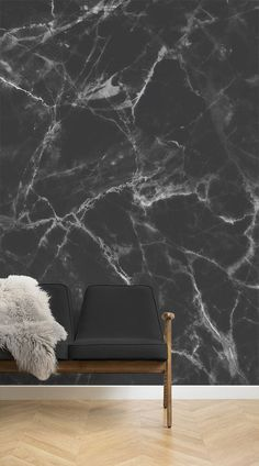 This marble wallpaper is one of the people's popular choices because it can blend in with any existing design of your house. It stands out as a beautiful feature wall in your home and creates a magnificent space in any room. This Marble wallpaper mural wo Luxury Wallpaper, Wallpaper Decor, Home Wallpaper, Bedroom Wallpaper, Wallpaper Wallpapers, Wallpaper Quotes, Marble Effect Wallpaper, Black Marble Background, Hygge