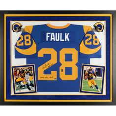 ... NFL IndianapolisColts tcpkickz Marshall Faulk St. Louis Rams Fanatics  Authentic Framed Autographed Mitchell Ness Authentic Jersey with Nike Rams  28 ... d7a04b7a3
