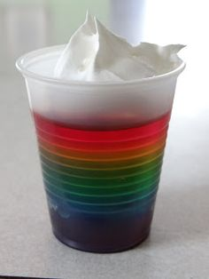 Rainbow Jell-O Cup by Because I Said So (and Other Mommyisms)                                                                                                                                                                                 More