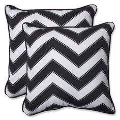Pillow Perfect Outdoor Chevron /White 18.5-inch Throw Pillow