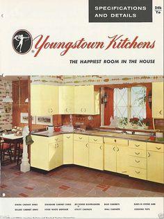 1957 YOUNGSTOWN Steel KITCHEN Cabinets Mid Century Modern Design Vintage Catalog