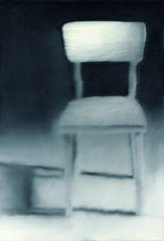 Gerhard Richter: Kleiner Stuhl, 1965. Oil on canvas.