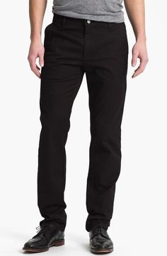 $138, AG Jeans Ag Slim Straight Leg Chinos. Sold by Nordstrom. Click for more info: https://lookastic.com/men/shop_items/139765/redirect
